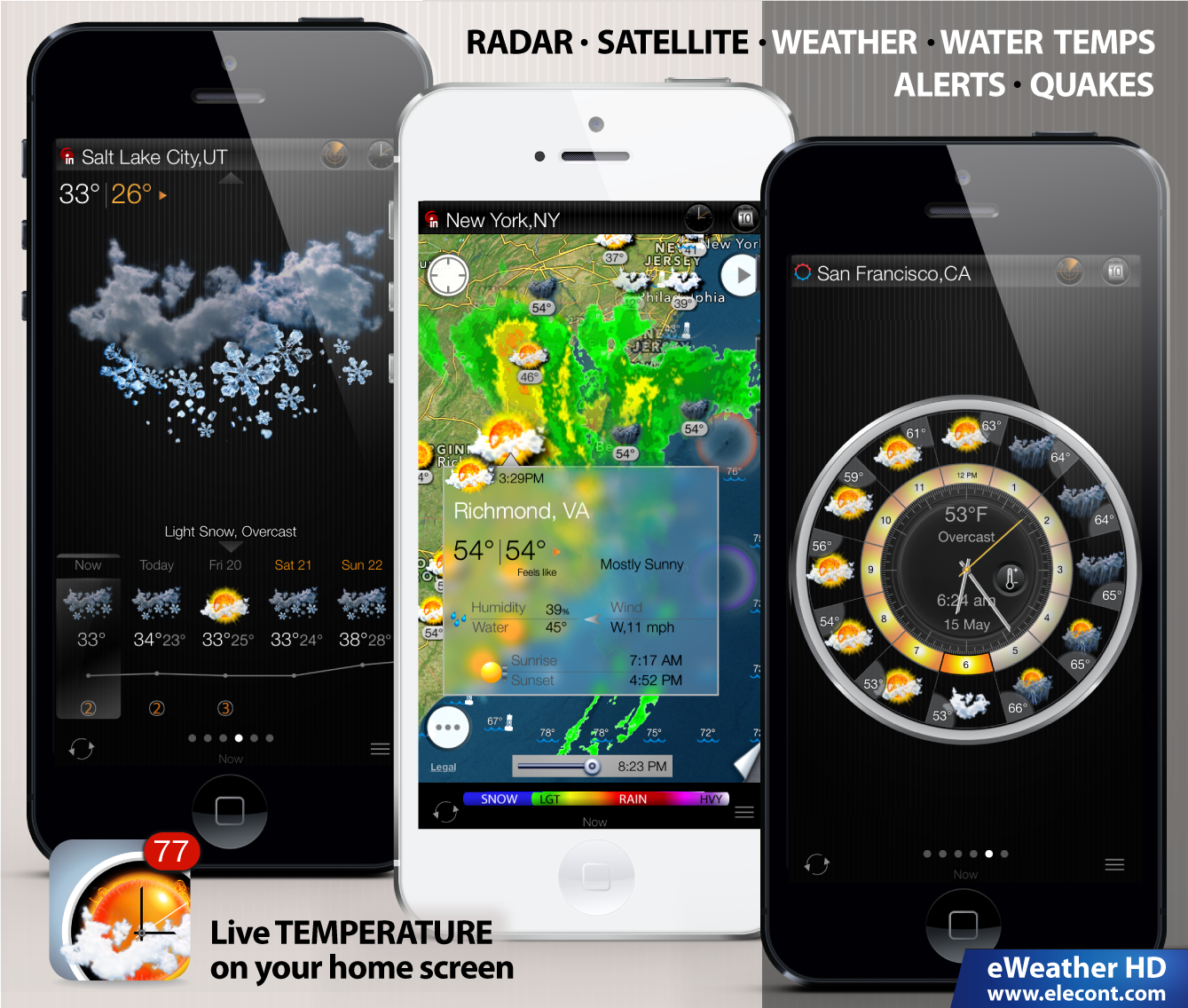 Phone Weather Radar Apps For Android Phones eweather hd 3 0 new ios 7 weather app hi res radar push alerts name iphone ipad png views 654 size 1 10 mb