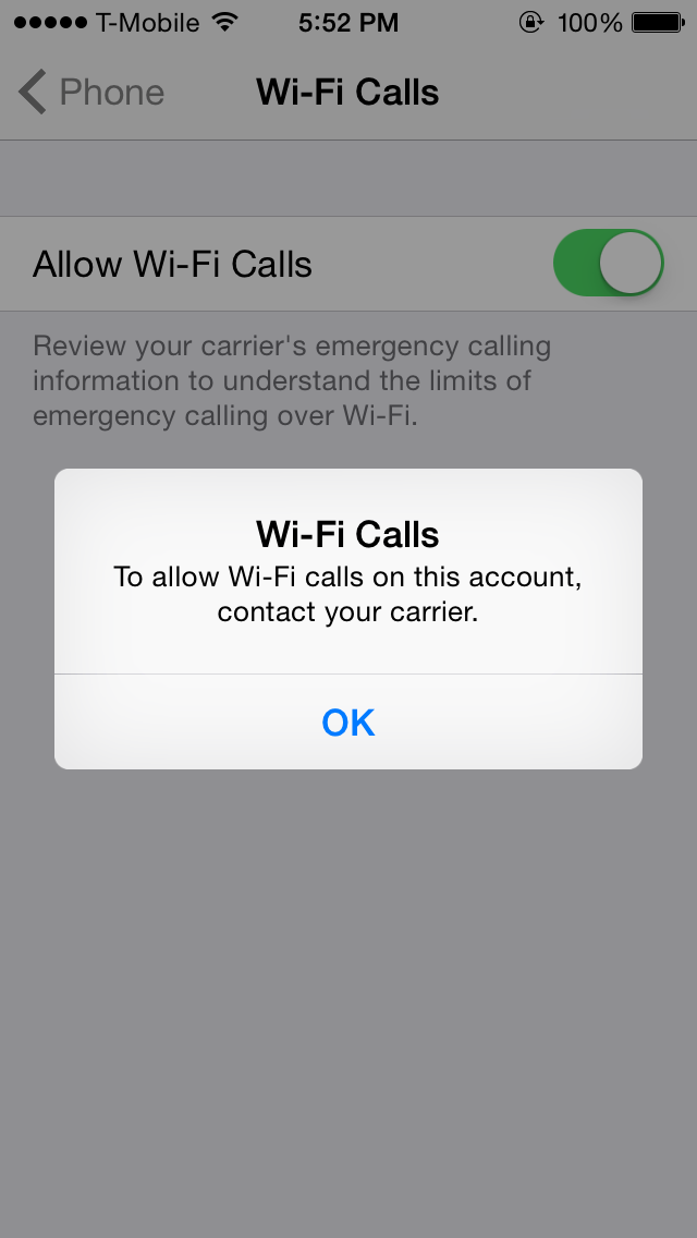 does iphone 5s have wifi calling does wifi calling works on tmobile prepaid on iphone 5s 18385