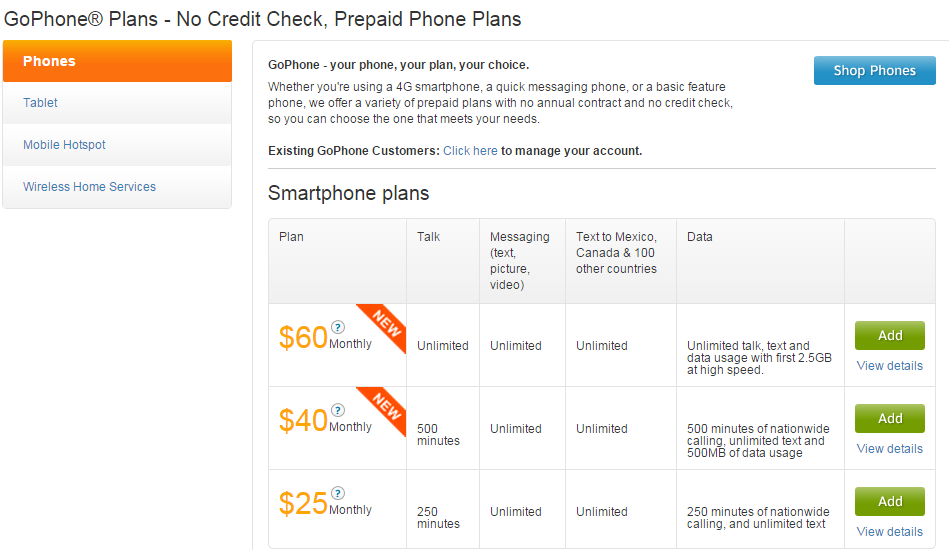 GoPhone Smartphone Plan with unlimited data?