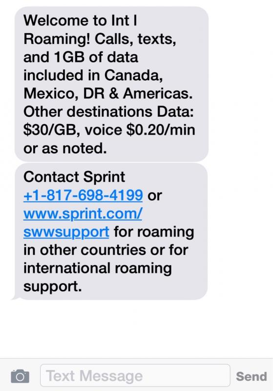 Sprint Traveling To Europe