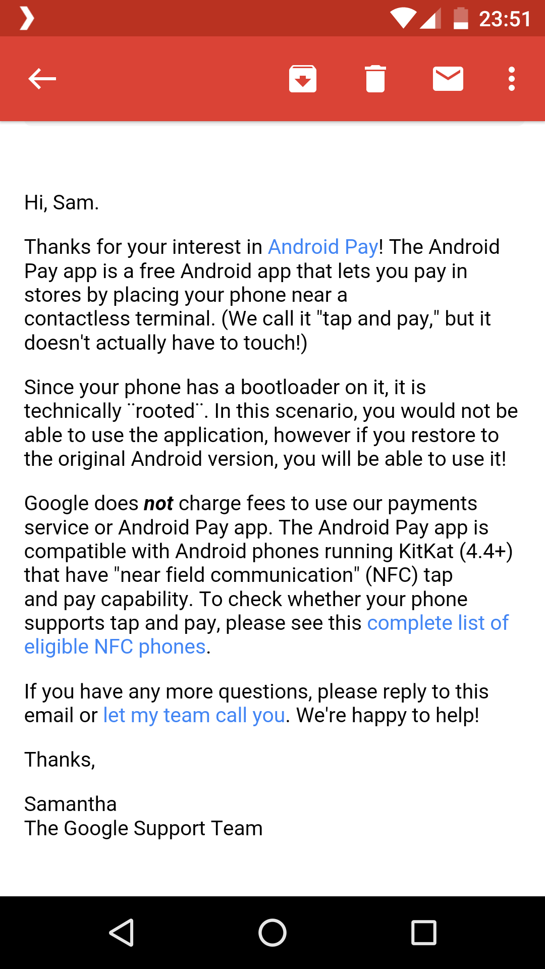 google pay root