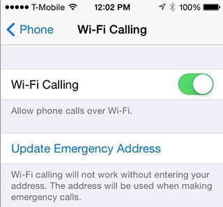 Does metro pcs support wifi calling on iPhone 6?