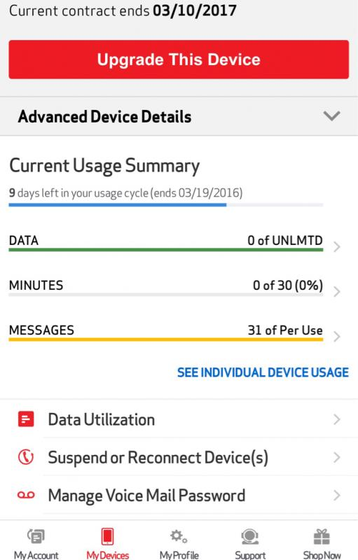Verizon line with Unlimited data with 30 mins loyalty plan