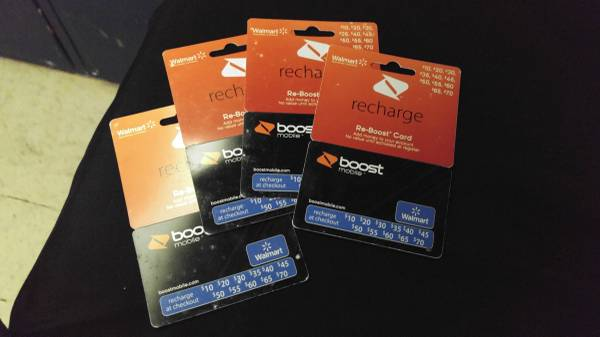 For Sale Four 70 Boost Mobile Re Boost Recharge Refill Cards