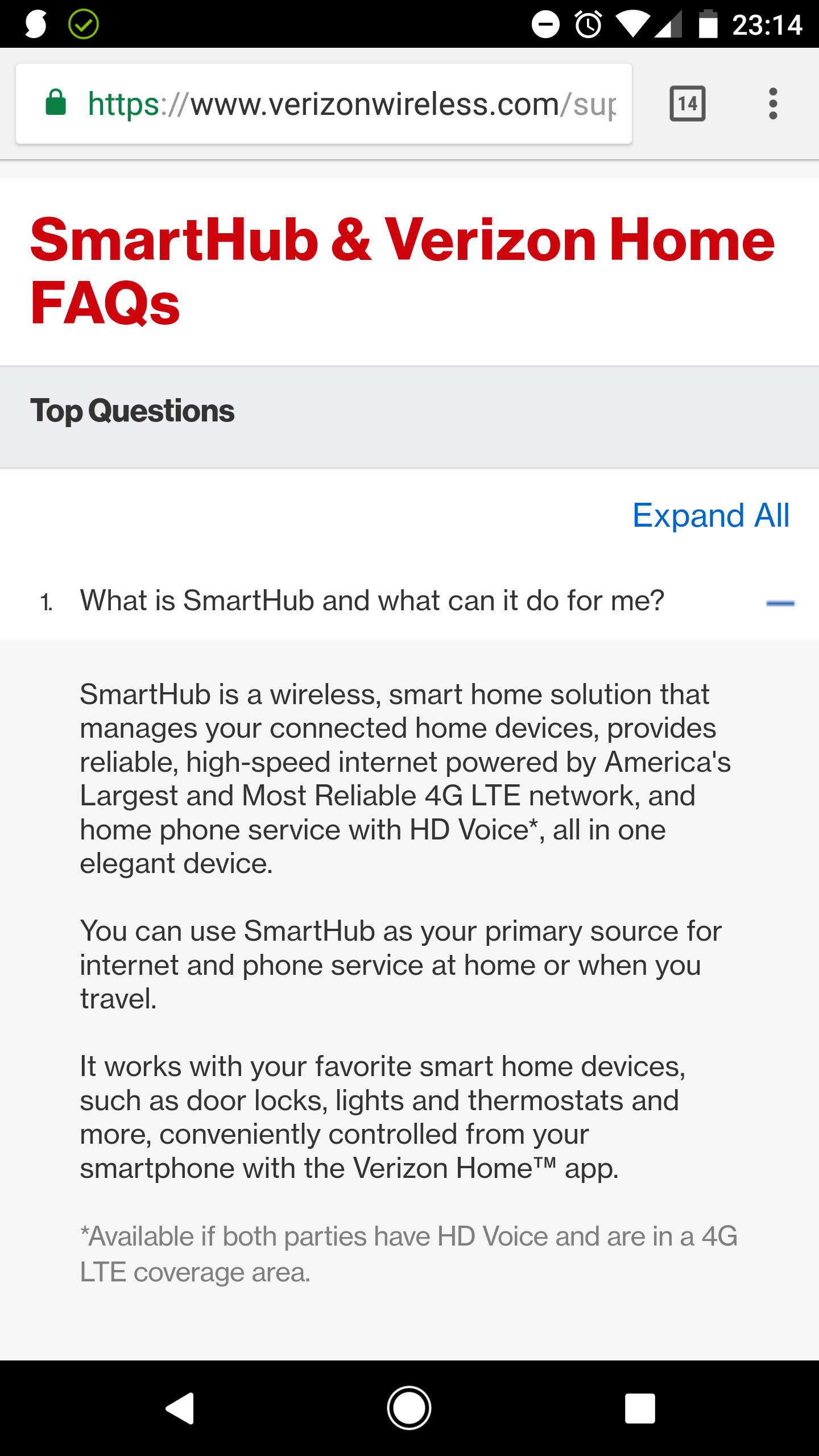 Verizon SmartHub is a 4G LTE router for your smart home