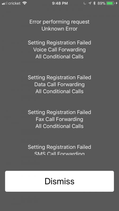 Lost conditional call forwarding after swapping Aio SIM for