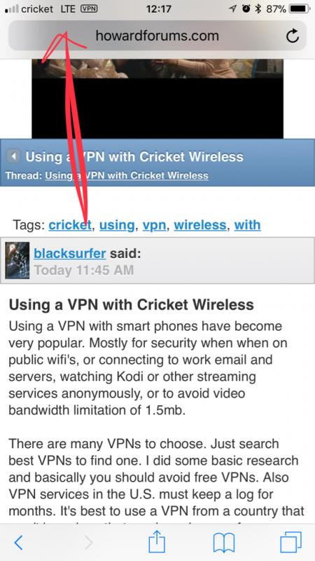 Cricket Using a VPN with Cricket Wireless