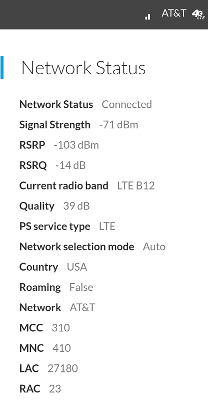 All my hotspot devices prefer a no signal/ low bar band (pics listed