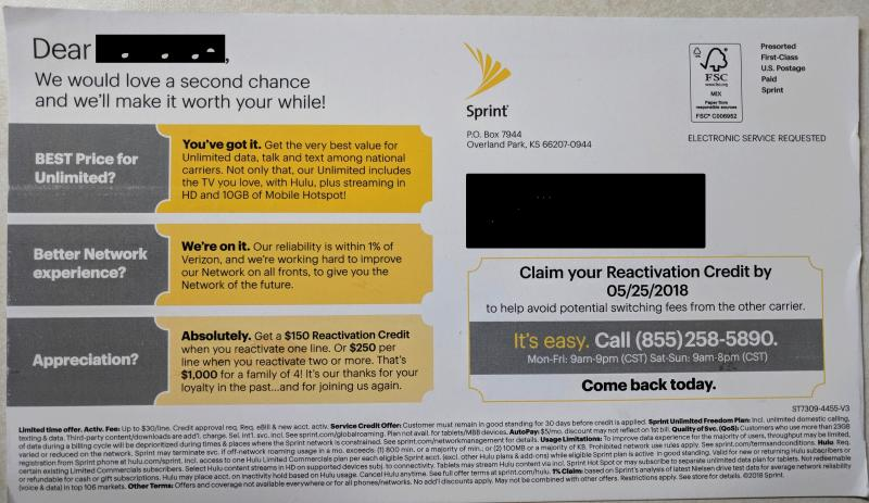 Free Sprint Service for 1 year - Page 103