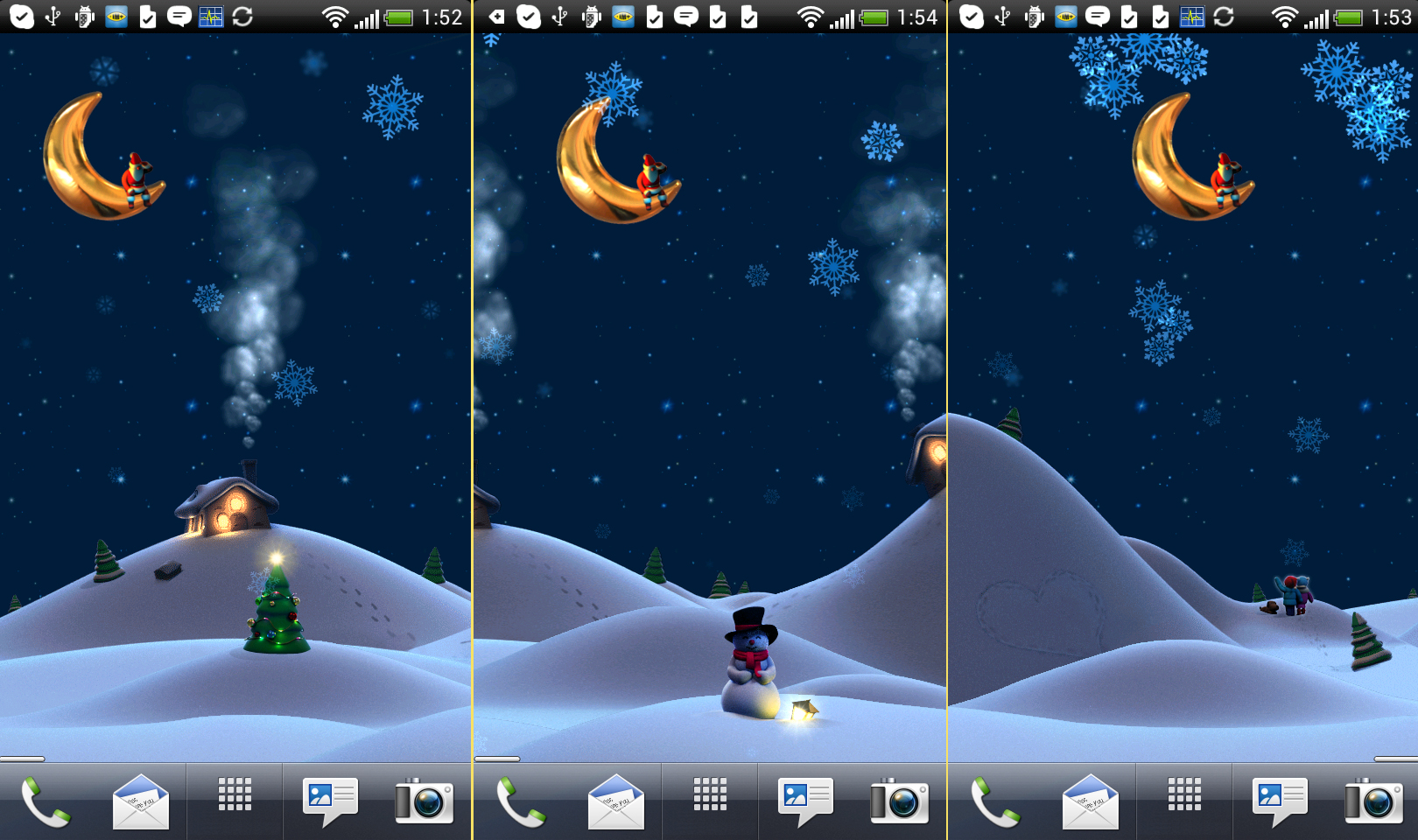Free Live Wallpaper For Android Mobile: Christmas Live Wallpaper