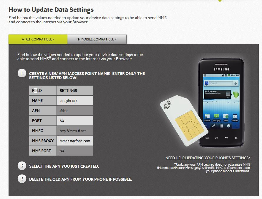 apn how to change note5
