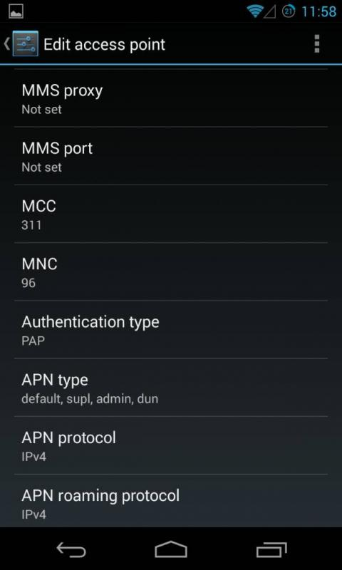 Thread: Lycamobile US APN Settings for android 4.3 (Nexus 4)