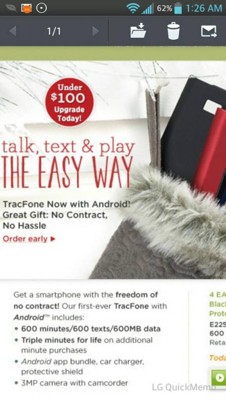 QVC Trac phone today's special