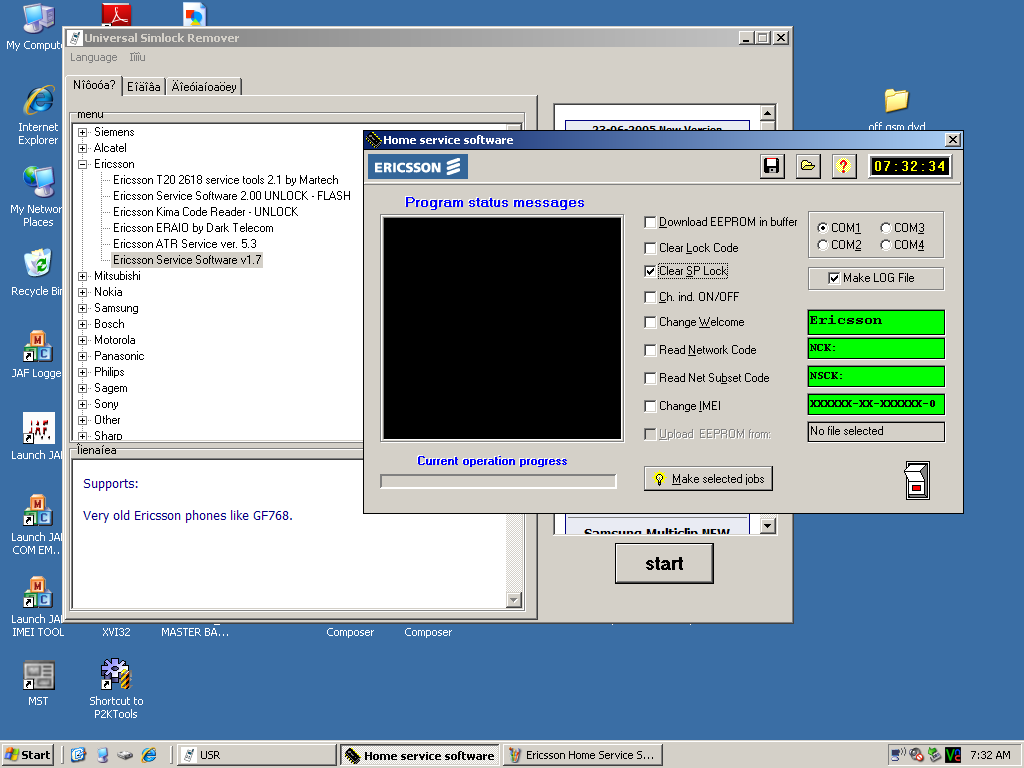 Name:  Ericsson Home Service Software unlock radio checked.PNG