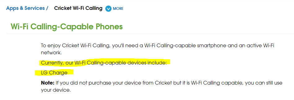 Name:  Cricket Wifi calling supported phones.PNG Views: 11924 Size:  20.6 KB